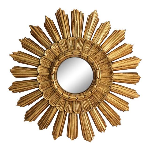 Continental Convex Sunburst Mirror For Sale