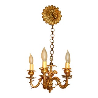 Early 20th Century French Rococo 5-Light Small Chandelier For Sale