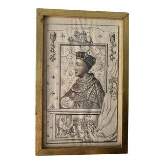 """King Henry V"" Georgian Profile Portrait Print For Sale"