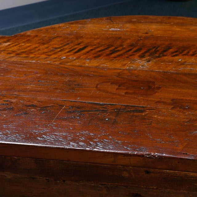 Wood 19th Century Burl Walnut Cabinet With Rounded Front and Original Keys For Sale - Image 7 of 10