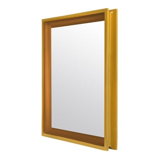 Large Rectangular Floating Mirror in Mayan Gold / Saddle Tan - Jeffrey Bilhuber for The Lacquer Company For Sale