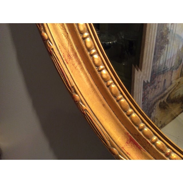 Ethan Allen Gold Bow Mirror - Image 7 of 10