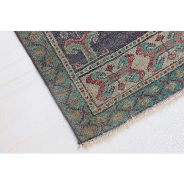 1960s Vintage Turkish Handmade Rug - 1′8″ × 3′1″ For Sale - Image 9 of 11