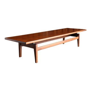 1955 Jens Risom Walnut Bench or Coffee Table For Sale