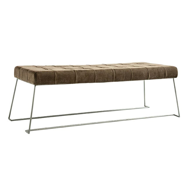 Mid Century Upholstered Bench For Sale