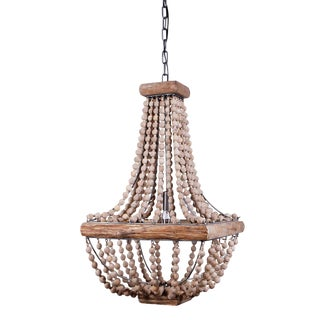 French Empire Wood Bead Chandelier For Sale