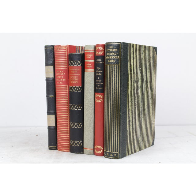 Scandinavian Leather Bound Books - S/6 - Image 3 of 3