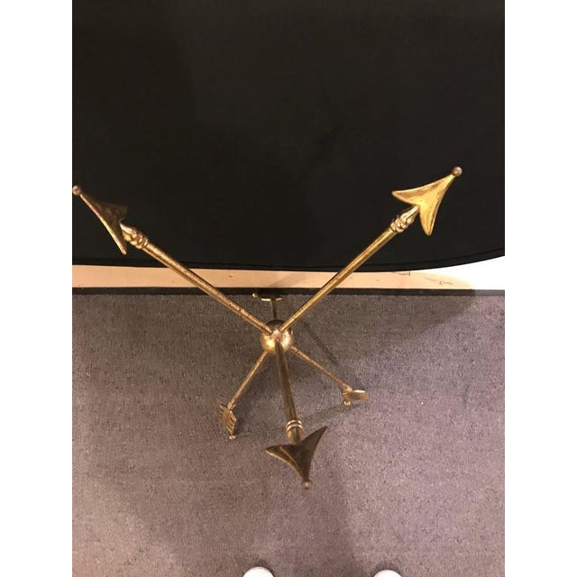 Arrow Form Bronze End Table Base or Pedestal on Tri Pod Legs For Sale In New York - Image 6 of 11