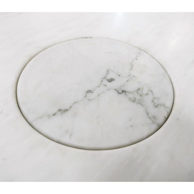 1970s Angelo Mangiarotti Marble Round Dining Table, 1970s For Sale - Image 5 of 6