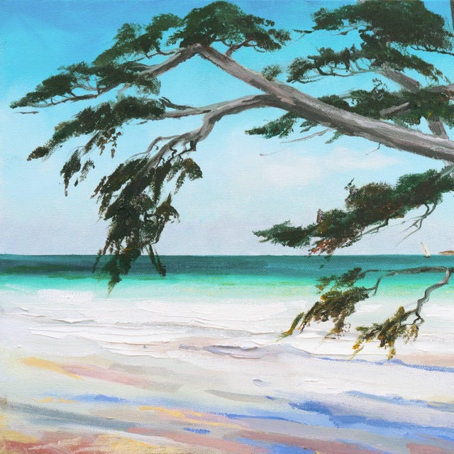 2010s 'Carmel Beach, Low Tide' by Kathleen Murray, California Woman Artist For Sale - Image 5 of 9