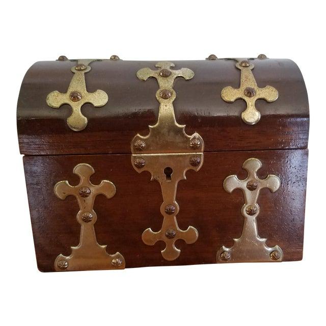 Spanish Brass Detail Music Box - Image 1 of 4