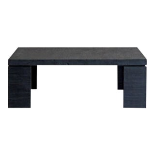 Minimalistic Handmade Reclaimed Elm Charcoal Black Coffee Table For Sale