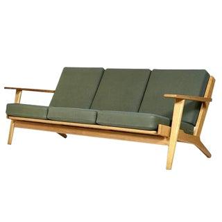 Hans J. Wegner for GETAMA Danish Three Seat Sofa in Oak GE 290