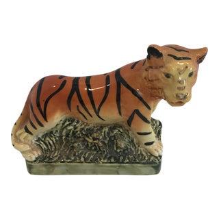 Ceramic Striped Tiger Figurine For Sale