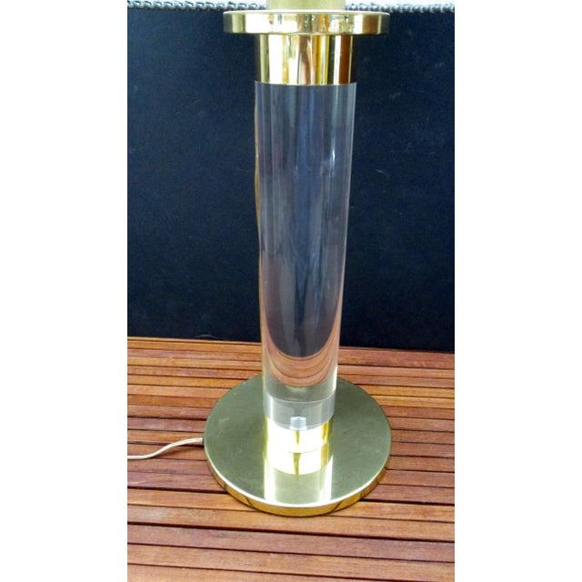 Mid Century Modern Modernist Karl Springer Style Lucite Table Lamp For Sale - Image 12 of 13