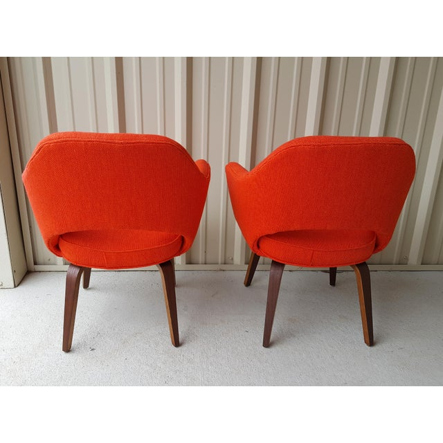 Mid-Century Modern Vintage Saarinen Knoll Exectutive Chairs- a Pair For Sale - Image 3 of 13