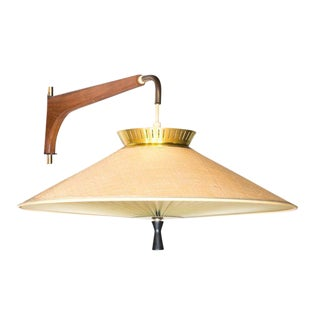 Danish Teak Adjustable Pendant Lamp