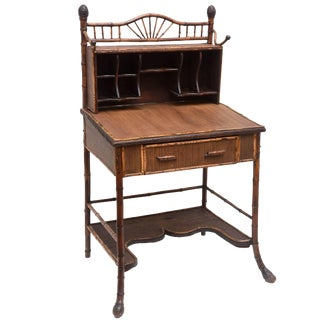 19th Century English Bamboo Desk For Sale