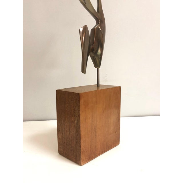 Gold Modernist Bronze Abstract Sculpture by Bolte For Sale - Image 8 of 11