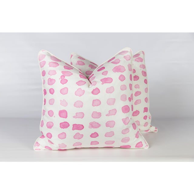 Amaryllis Guinea Spotted Pillows - A Pair - Image 5 of 5