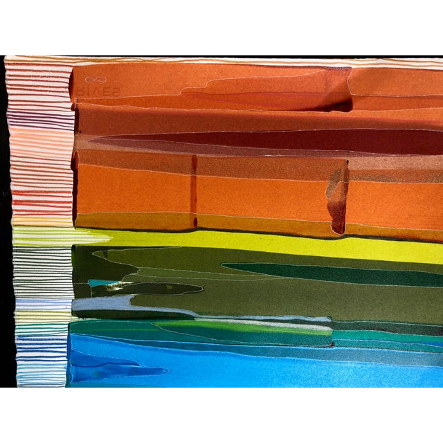 This contemporary painting on paper (created 2021) represents an abstracted visual of The Chromatic Scale - a musical...