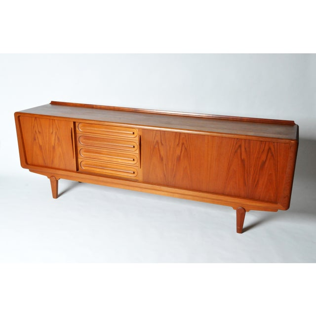 1960s Console with Four Drawers Attributed to Vamo Sonderborg For Sale - Image 5 of 12