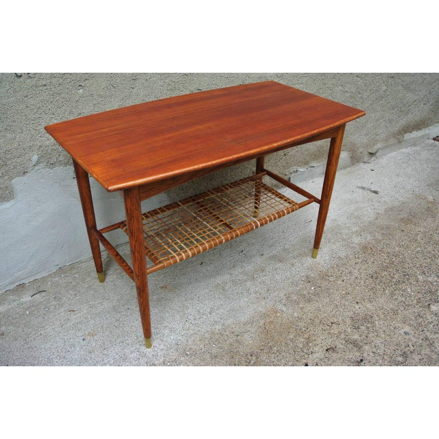Brown Folke Ohlsson Two-Tier Table for Dux For Sale - Image 8 of 8