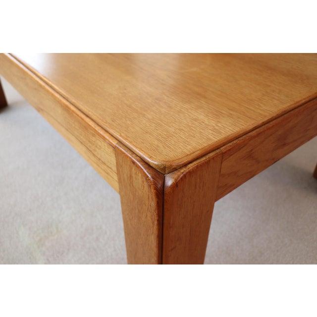 1970s Danish Modern Niels Eilersen Solid Teak Coffee Table For Sale - Image 5 of 6