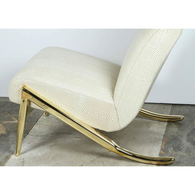 Paul Marra Slipper Chair in Brass with Faux Python - Image 5 of 10