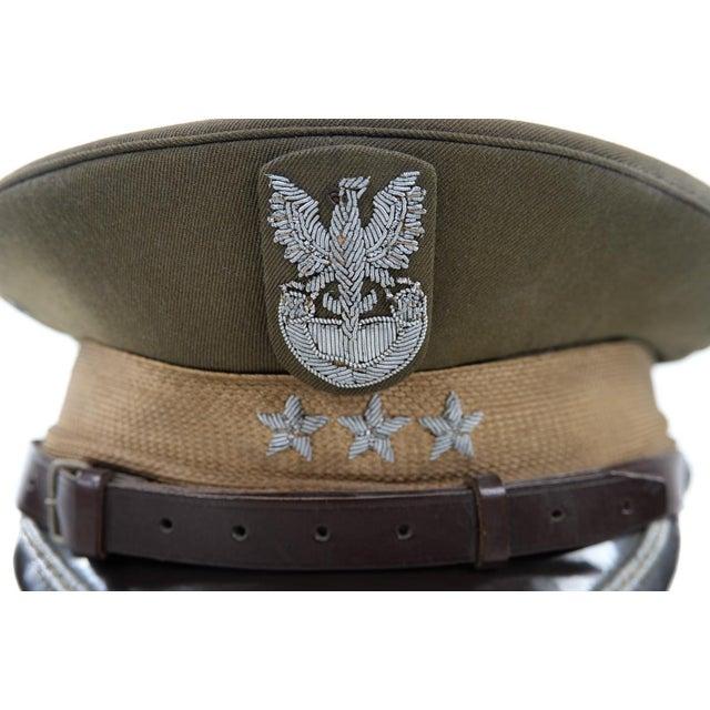 Vintage Polish 3 Stars Military Officer Hat - Image 3 of 9