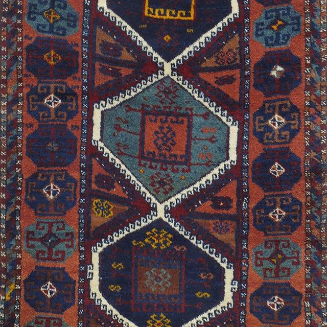 Islamic Antique Kurdish Rug For Sale - Image 3 of 10