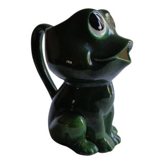 Mid-Century Kitschy Frog Pitcher
