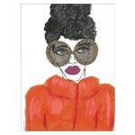"Medium ""Orange Coat"" Print by Kendra Dandy, 24"" X 32"""
