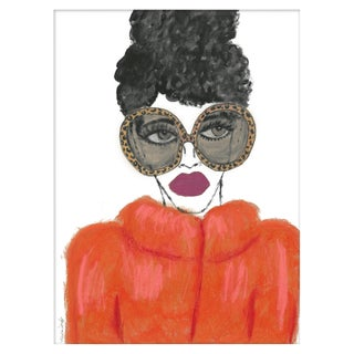 "Medium ""Orange Coat"" Print by Kendra Dandy, 24"" X 32"" For Sale"