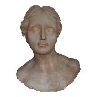 Decoline New York Faux Marble Female Bust