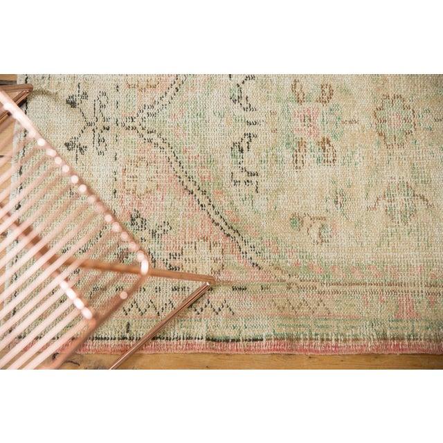 "Textile Vintage Distressed Oushak Rug Runner - 2'8"" X 4'9"" For Sale - Image 7 of 9"