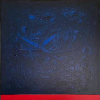"""""""Blue Mirage"""" Abstract Painting by Tony Curry For Sale"""