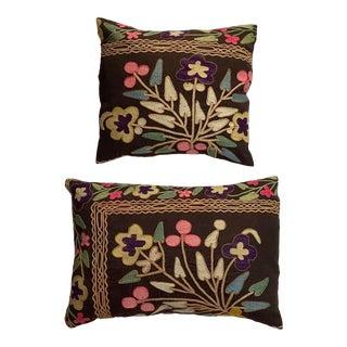 Antique Suzani Pillows - a Pair For Sale