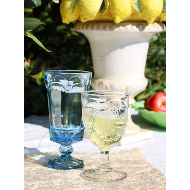 Fostoria Glass Company Vintage American Fostoria Pale Blue Glasses - Set of 10 For Sale - Image 4 of 6