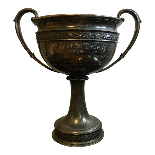 Early 1900's Oversized Dog Show Loving Cup For Sale