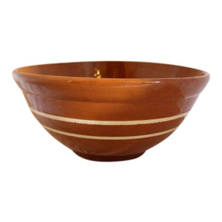 Brown Striped Mixing Bowl From the Andy Warhol Collection For Sale