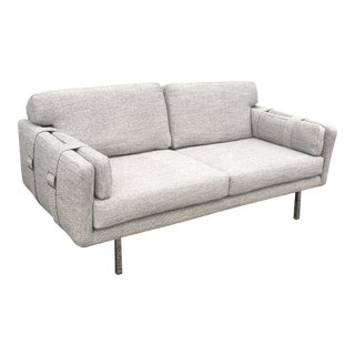 1970's Mid-Century Modern Gray Sofa For Sale