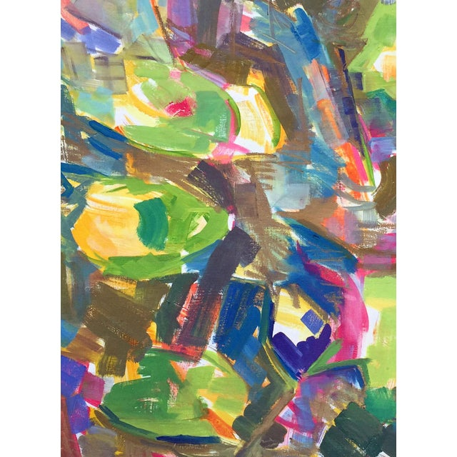 """Waterlilies"" Large Abstract Painting by Trixie Pitts - Image 3 of 6"