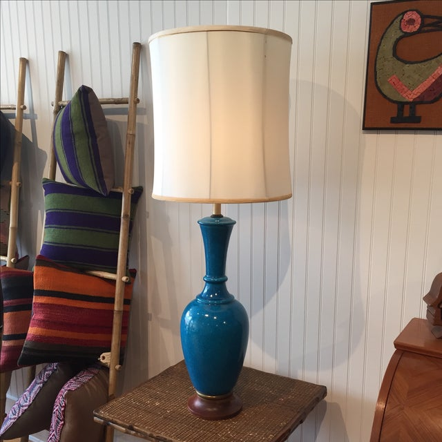 Frederick Cooper Cerulean Blue Crackle Lamp - Image 6 of 11