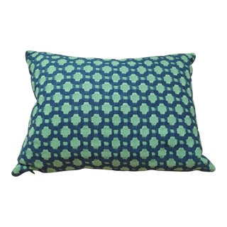 Shumacher Betwixt Fabric in Peacock Lumbar Pillow