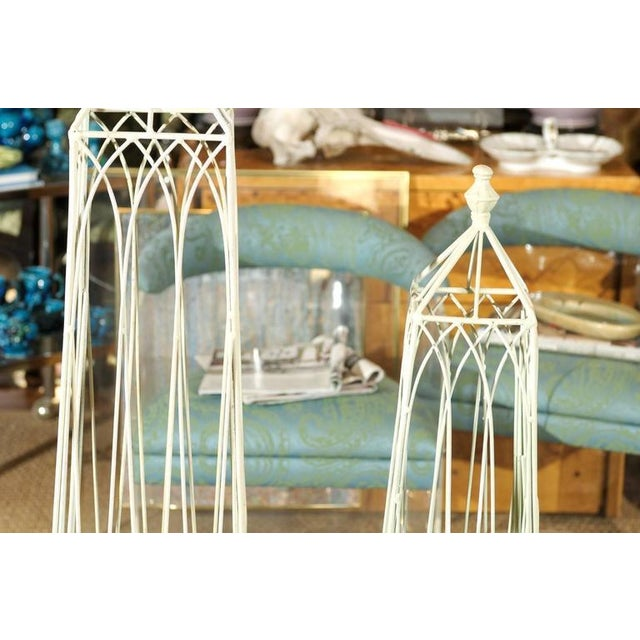 White Garden Obelisks - A Pair - Image 5 of 8