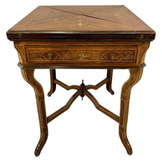 19th Century Rosewood English Card Table For Sale