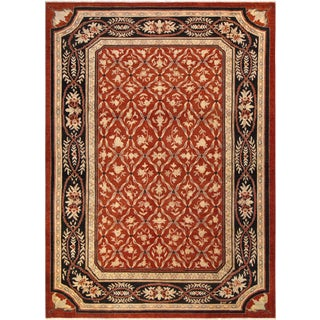 Kafkaz Peshawar Mable Red/Black Wool Rug - 10'5 X 13'8