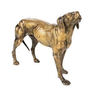 19th Century Bronze Hunting Dog Sculpture