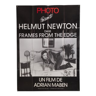 "Vintage French ""Frames From the Edge"" Helmut Newton Film Poster For Sale"